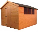 Norfolk Shed 1.8 x 1.2m Apex Treated
