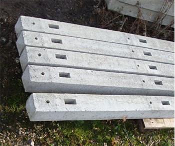 2.44m Concrete Intermediate 3x mort post