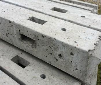 2.44m concrete corner 3 x morticed post