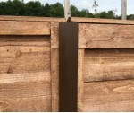 2.4m 54mm x 51mm DURAPOST BROWN