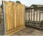 1.8m Durapost Closeboard per linear meter