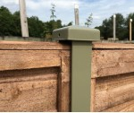 2.4m 54mm x 51mm DURAPOST OLIVE GREEN