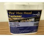 140mm Hex Head Screws (250 per Bucket)