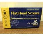 100mm Flat Head Screw Carpenters Mate 80