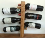 Oak Wine Rack 6 Bottles