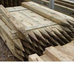 1.8m 75mm x 125mm pointed fence post