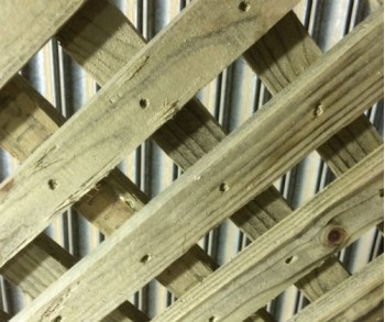 0.6m x 1.83m Heavy Sawn Diamond Trellis